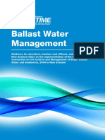 Ballast Water Management Guidelines
