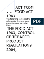 Extract From the Food Act 1983