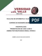 Caso Clinico Anemia Por Insuficiencia Renal Cronica