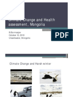 Climate Change and Health Assessment, Mongolia