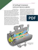 CMP.202 Elliott Centrifugal Compressors Optimized Performance in High Pressure Applications
