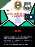 Legislacion de Armas y Municiones