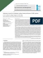 Investigación de Laboratorio Sobre Sistemas Combinados de Refrigeración, Calefacción y Energía (CCHP)