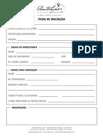 Ficha de Inscrição-para Impressão Ou Edição Online