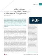 Membraneless Electrolyzersfor Low-Cost Hydrogen Productionin a Renewable Energy Future