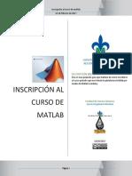 Introducción al curso de Matlab