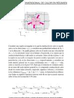 Conducción Bidimensional de Calor en Régimen Transitorio