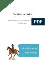 Conciencia Léxica Identificar Palabra Omitida (Articulos)