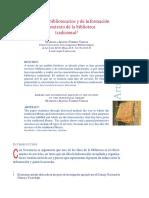 Los Servicios Bibliotecarios y de Información en El Contexto de La Biblioteca Tradicional.