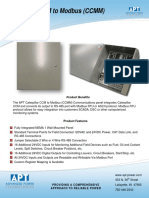 Catepillar CCM to Modbus Conversion Panel