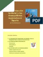 Organizacion Territorial y Desequilibrios