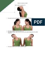 Exercitii coloana cervicală