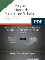 Prueba y Presunciones Del Contrato Laboral - Contratos Modales (26 de Julio 2018)