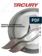 Manual de Proprietario Do Motor de Popa Mercury 75-90-115-125 HP (Carburado)