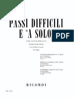 Passi Difficili e a solo Italiani Contrabbasso