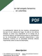 La Situacion Del Empelo Femenino en Colombia