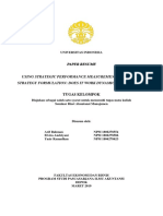 6.3. Using Strategic Performance Measurement Systems for Strategy Formulation