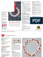 LW5742 Berry Nice Wreath Free Knitting Pattern