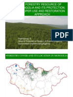Forestry Resoures of Mongolia and its Protection, Proper Use and Restoration Approach