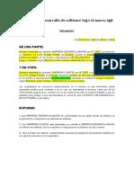 Contrato Desarrollo Marco Ágil