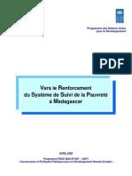 Vers le Renforcement du Système de Suivi de la Pauvreté à Madagascar (Avril 2002)