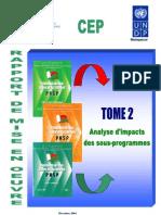 Evaluation PNSP TOME 2. Analyse d'impact des sous-programmes -- Rapport de Mise en Oeuvre (Décembre 2004)