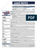 03.18.19 Game Notes