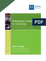 Pedagogical Templates for E-learning