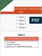 Views of Spoken Language and Speaking Tests