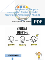 Ppt Critical Thinking