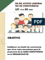 Prevencion Del Acoso Laboral y Comite de Convievencia Ley 1010 2006