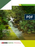 Lineamientos de restauración ecológica