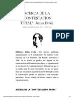 ACERCA DE LA %22CONTESTACION TOTAL%22. Julius Evola | Biblioteca Evoliana.pdf