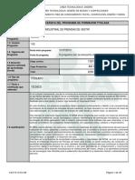 Infome Programa de Formación Titulada de patronale industrial
