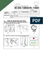 EVALUACION de Historia Mapas Globo Terraqueo y Planisferio