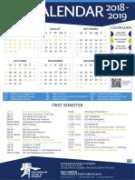2018-2019 ISQ Calendar