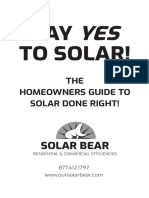 Say Yes To Solar