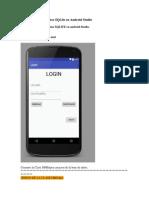 Login Con Base de Datos SQLite en Android Studio