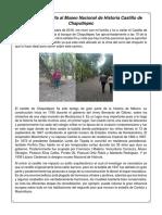 Crónica de la visita al Museo Nacional de Historia Castillo de Chapultepec.docx