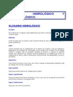 GLOSARIO HIDROMETEOROLÓGICO