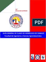 GUÍA No 01 INTRODUCCIÓN A FLUJOS EN CANALES