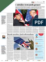 Peace between Korea and America