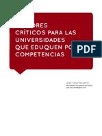 FACTORES CRÍTICOS PARA QUE LAS UNIVERSIDADES EDUQUEN CON COMPETENCIAS