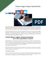 Artikel Bahasa Inggris Dengan Topik Berbeda