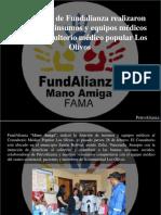 PetroAlianza - Voluntarios de Fundalianza Realizaron Dotación de Insumos y Equipos Médicos Para El Consultorio Médico Popular Los Olivos