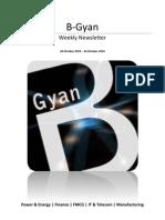 BGyan Newsletter - 20Oct - 26 October, 2010