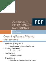 Fundamentals of Gas Turbine Operation Maintenance
