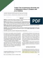 Randomized Controlled Trial of Ipratropium Bromide and Salbutamol vs Salbutamol Alone in Children With Acute Exacerbation