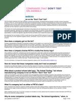 Peta.org Listado de Productos Cruelty Free