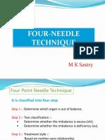 Four-needle Technique - Mk Sastry